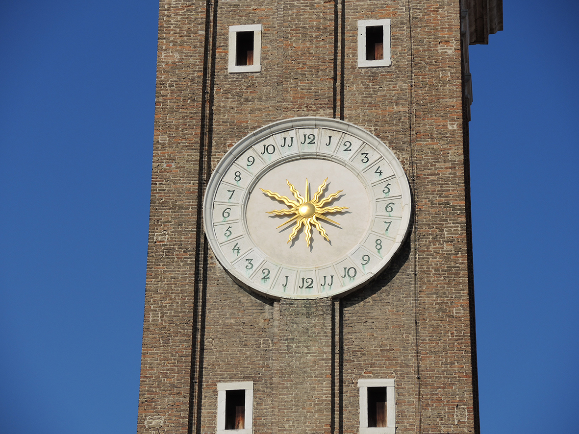 Clock on the Holy Apostles church's bell tower