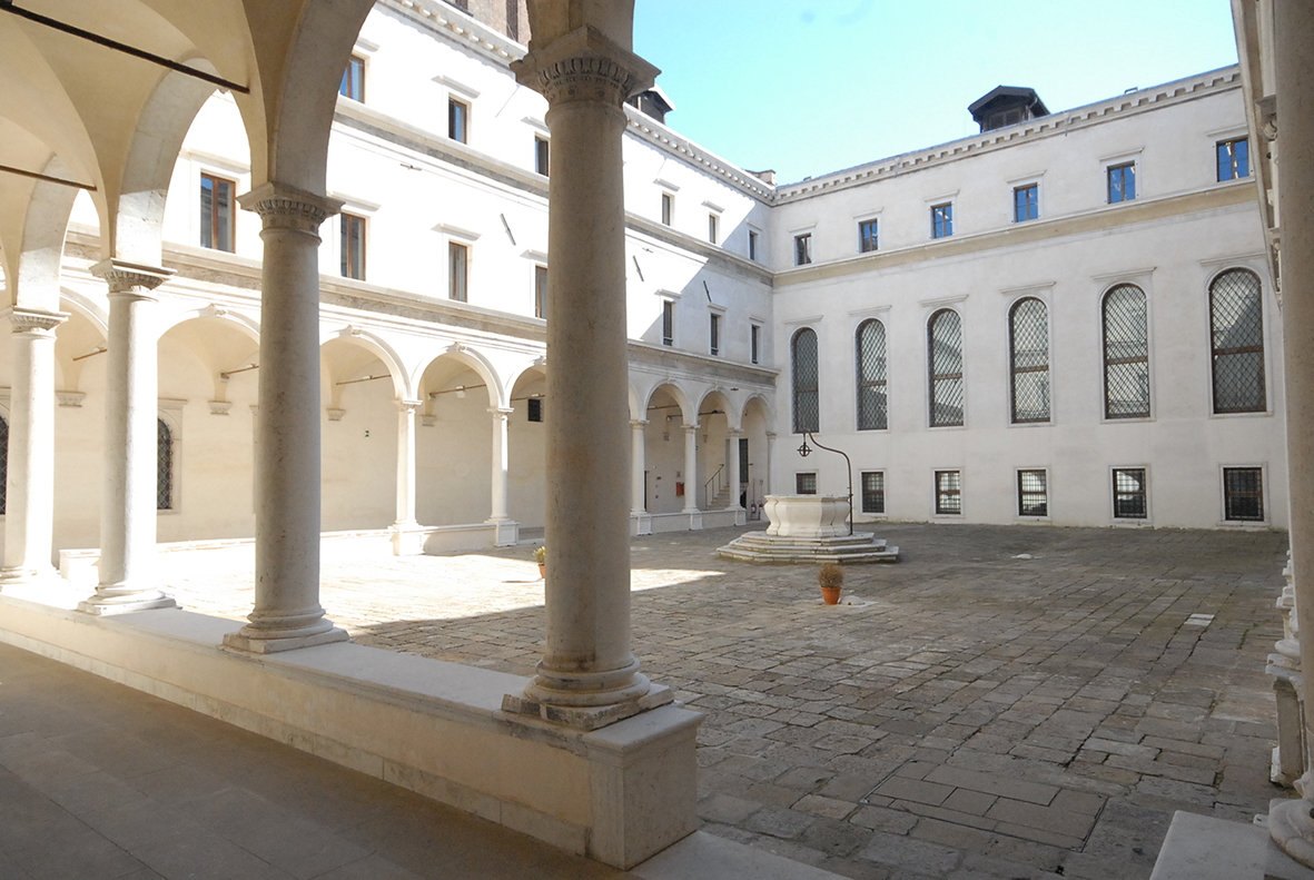 Cloister in the Redentore monastery