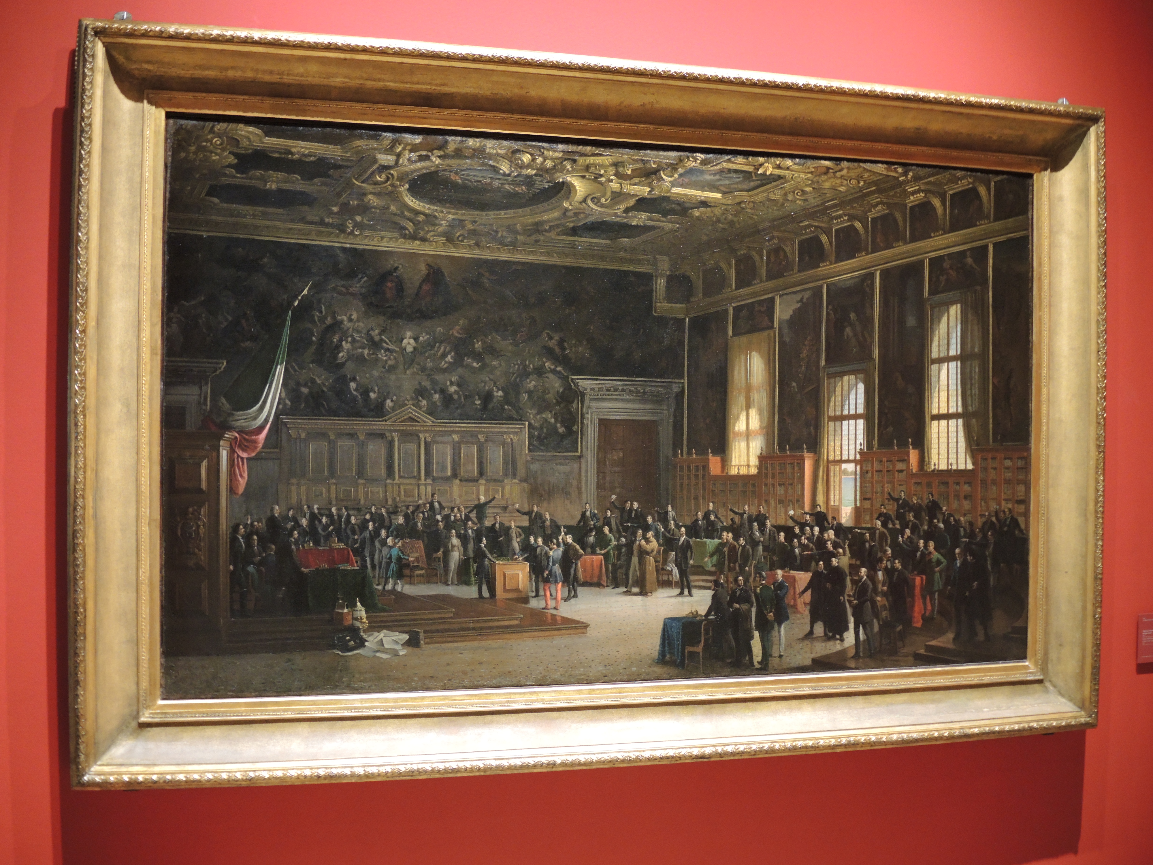 1848 - The oath of Venetian officials to defend the city against the Austrians. Several Venetina Jews were part of the Assembly