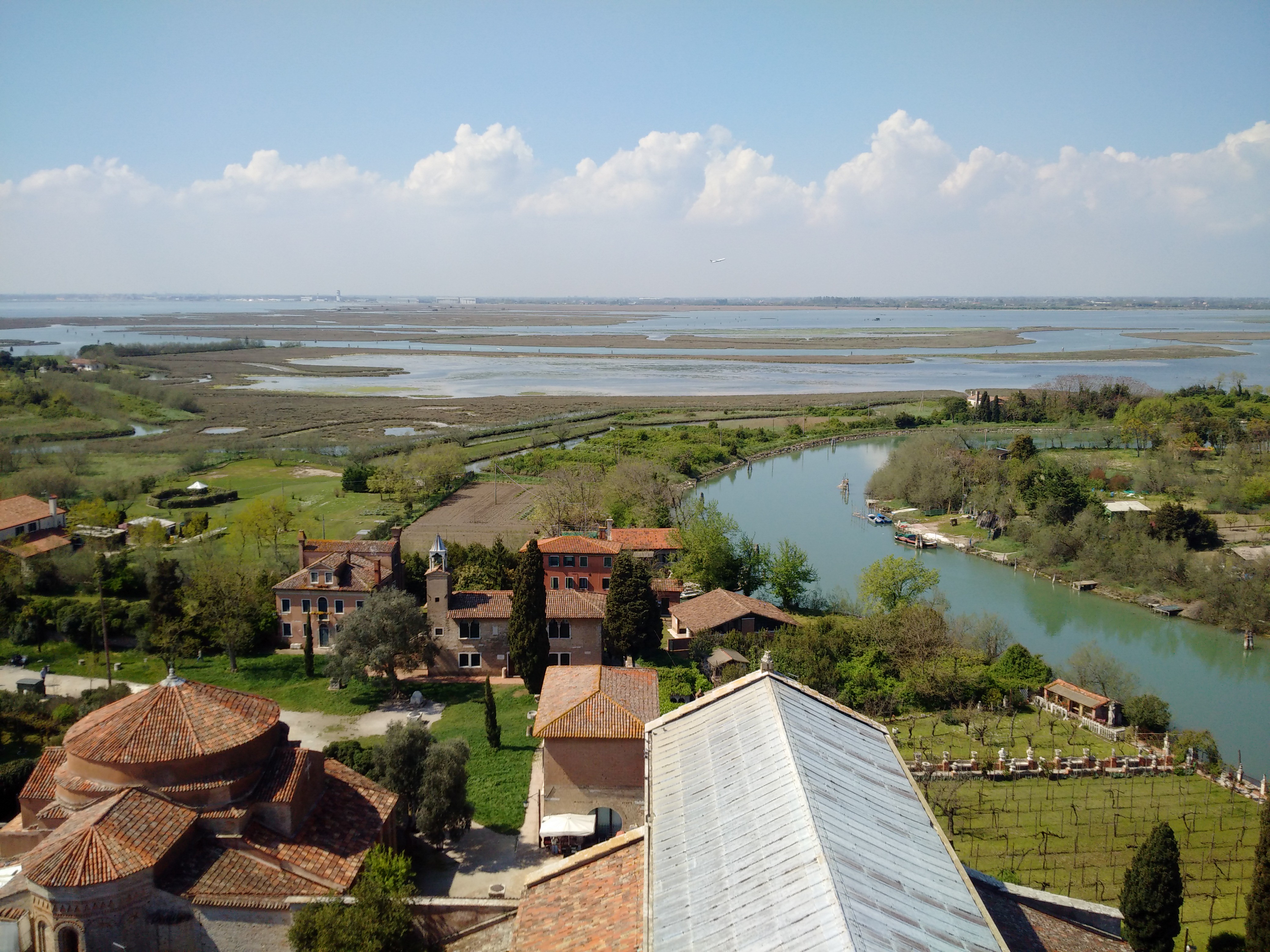View of Torcello from the bell tower