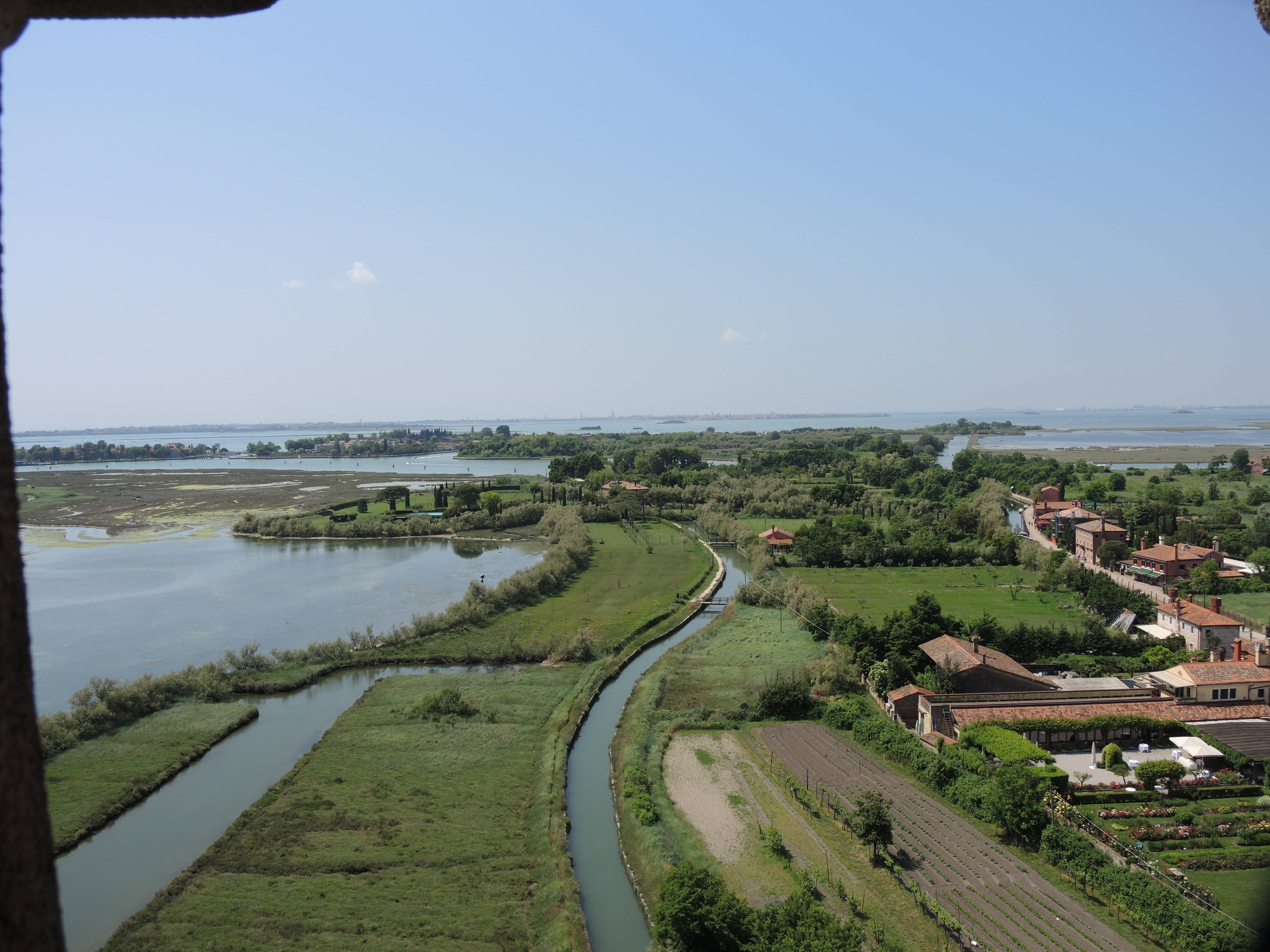 A view of Torcello from the bell tower