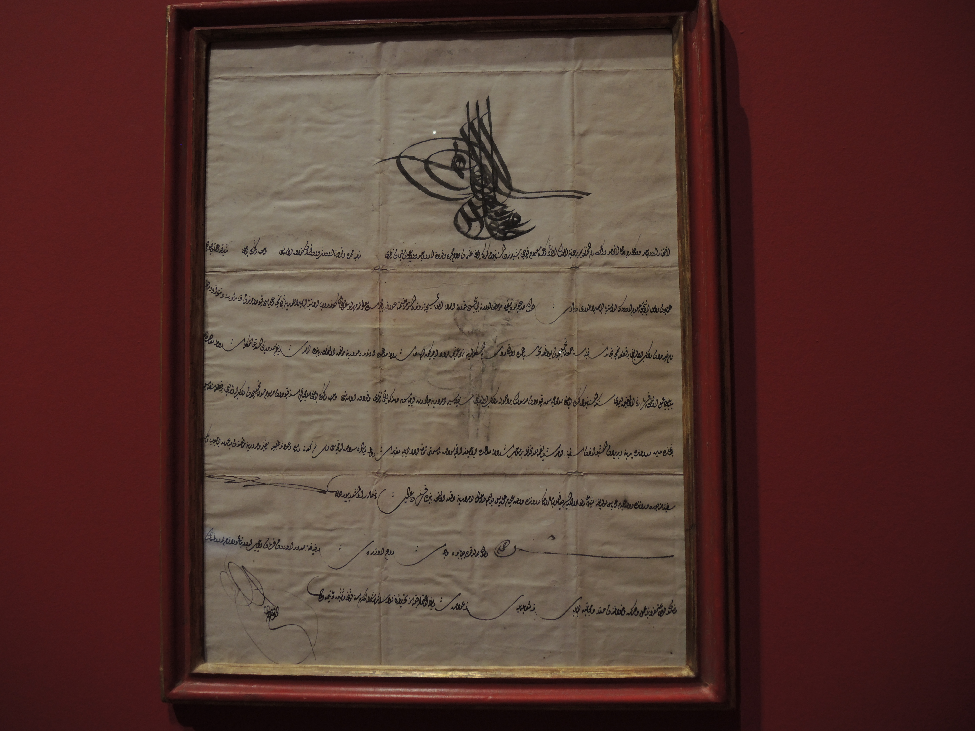 Pass released in 1817 by the Ottoman sultan for a ship owned by the Venetian Jewish shipowner Giuseppe Treves