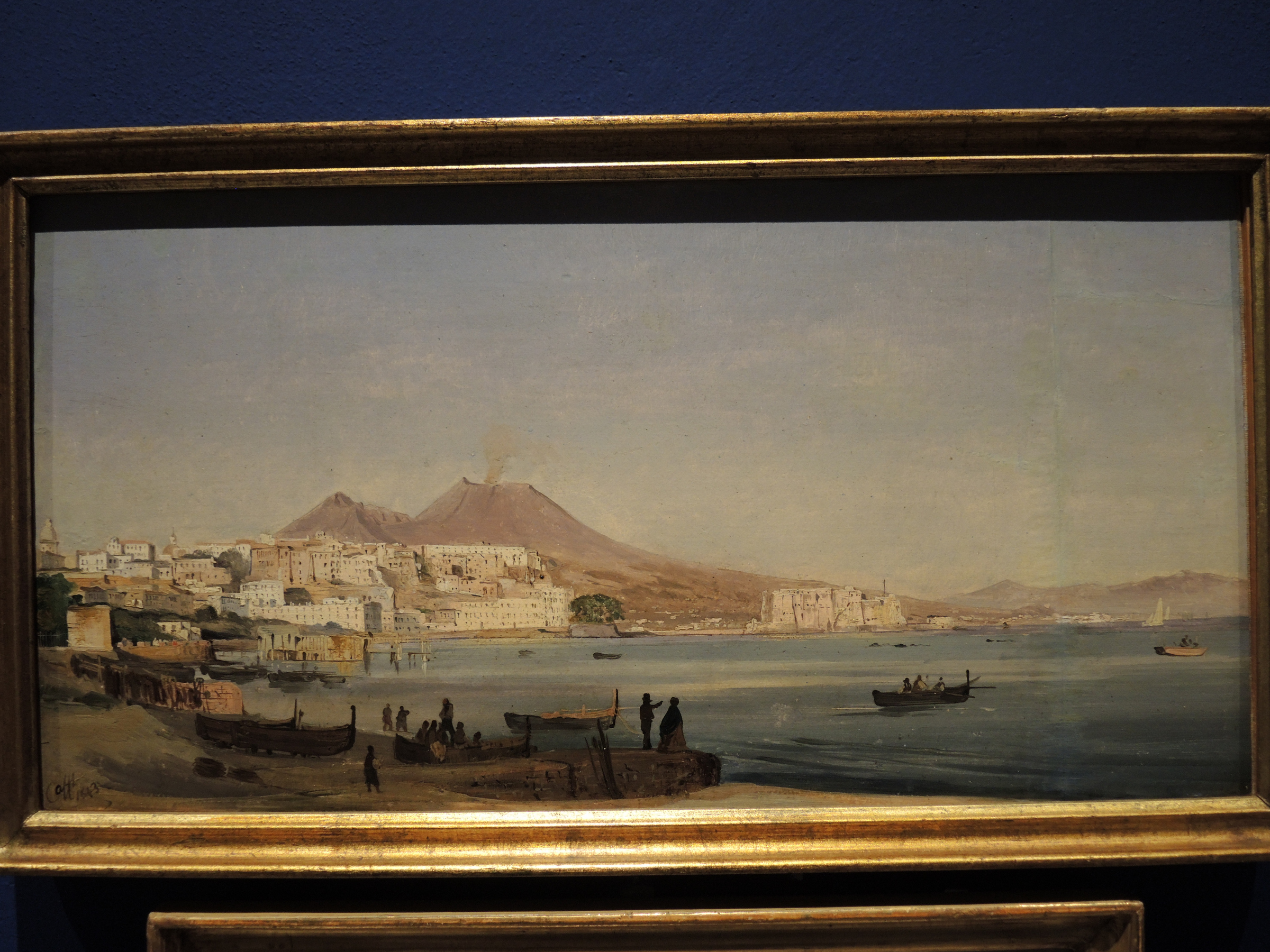Naples, view from the shore of Chiaia - 1843