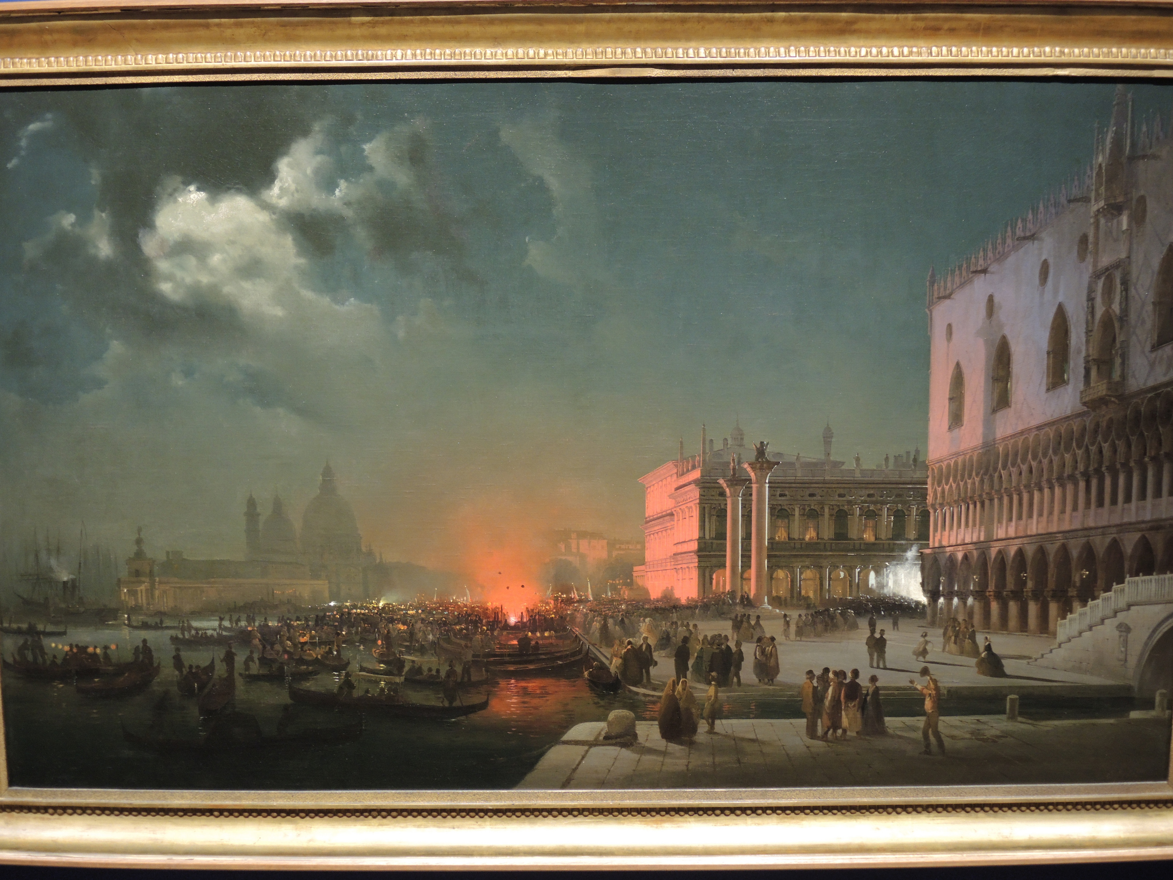 Venice, night party to honour the archduke and his wife - 1854