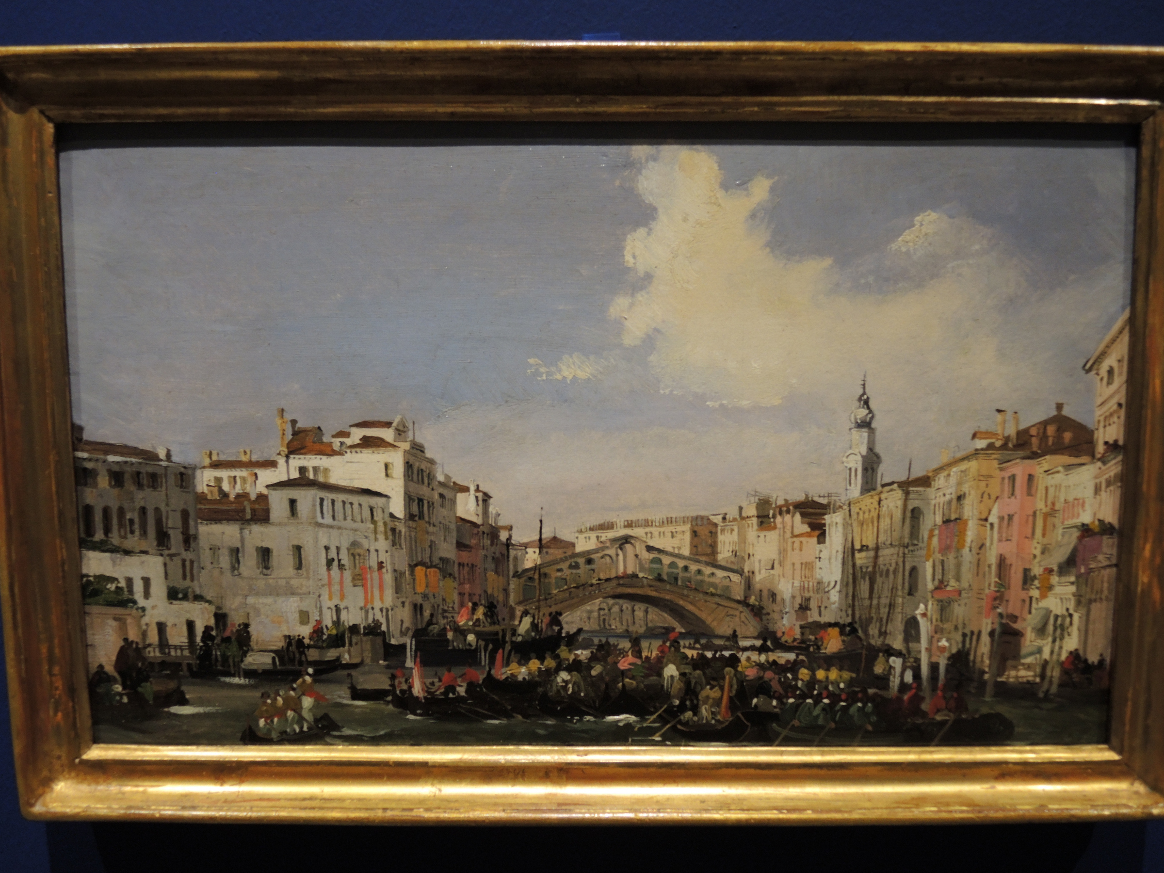 Venice, regatta on the Gran Canal - 1848