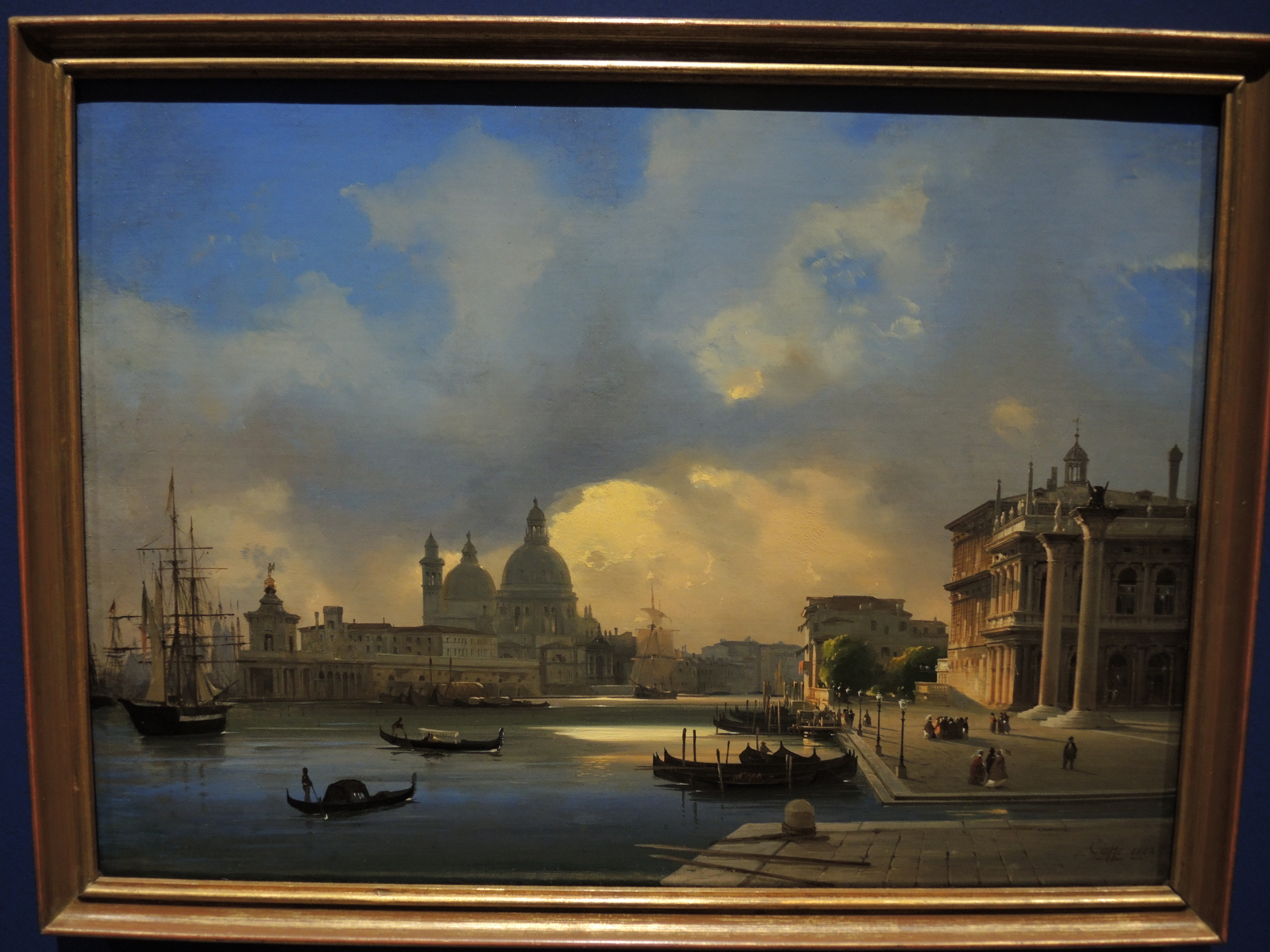 Venice, sunset on St. Mark's warf - 1864