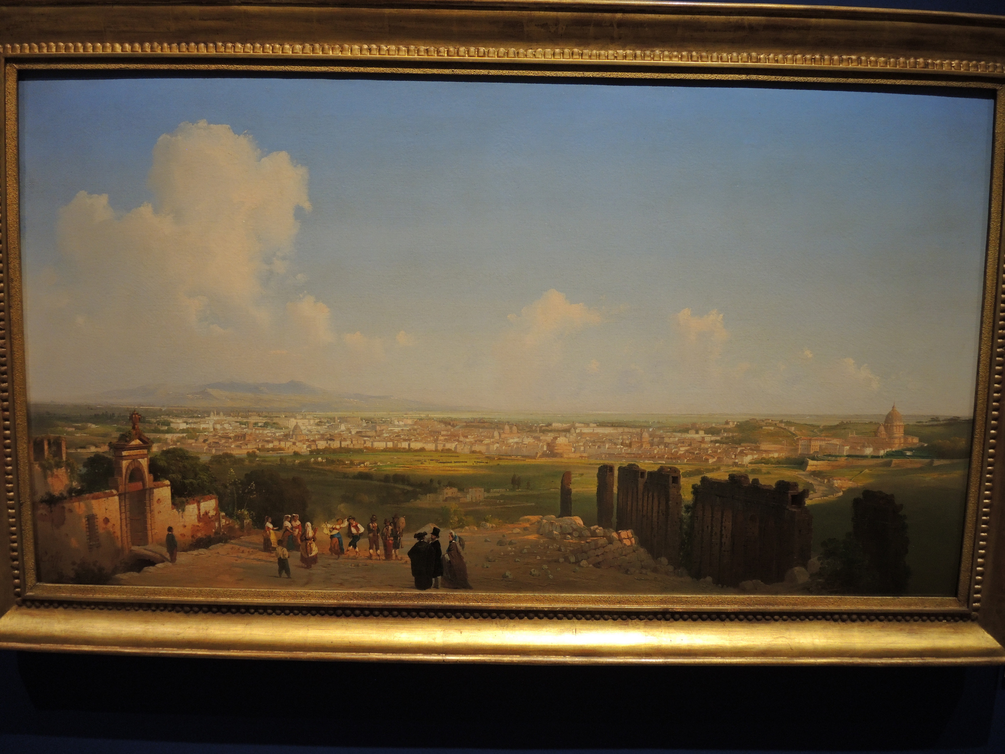 Rome, view of the city from Monte Mario - 1855