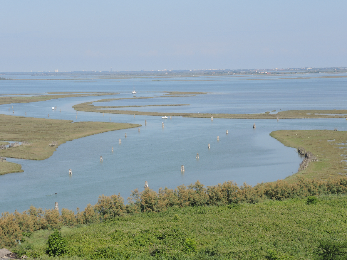 The vastness of the lagoon observed from Torcello