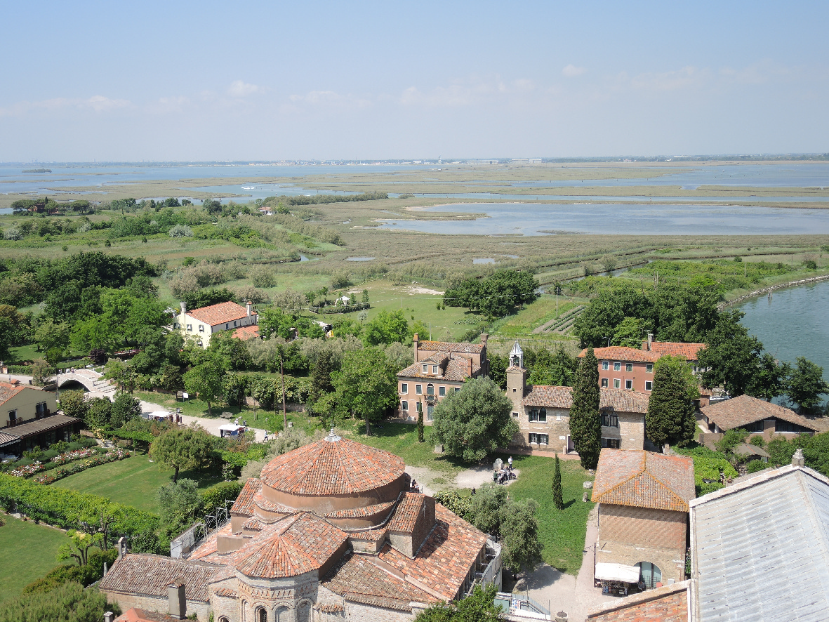 Torcello seen from the top of the bell tower
