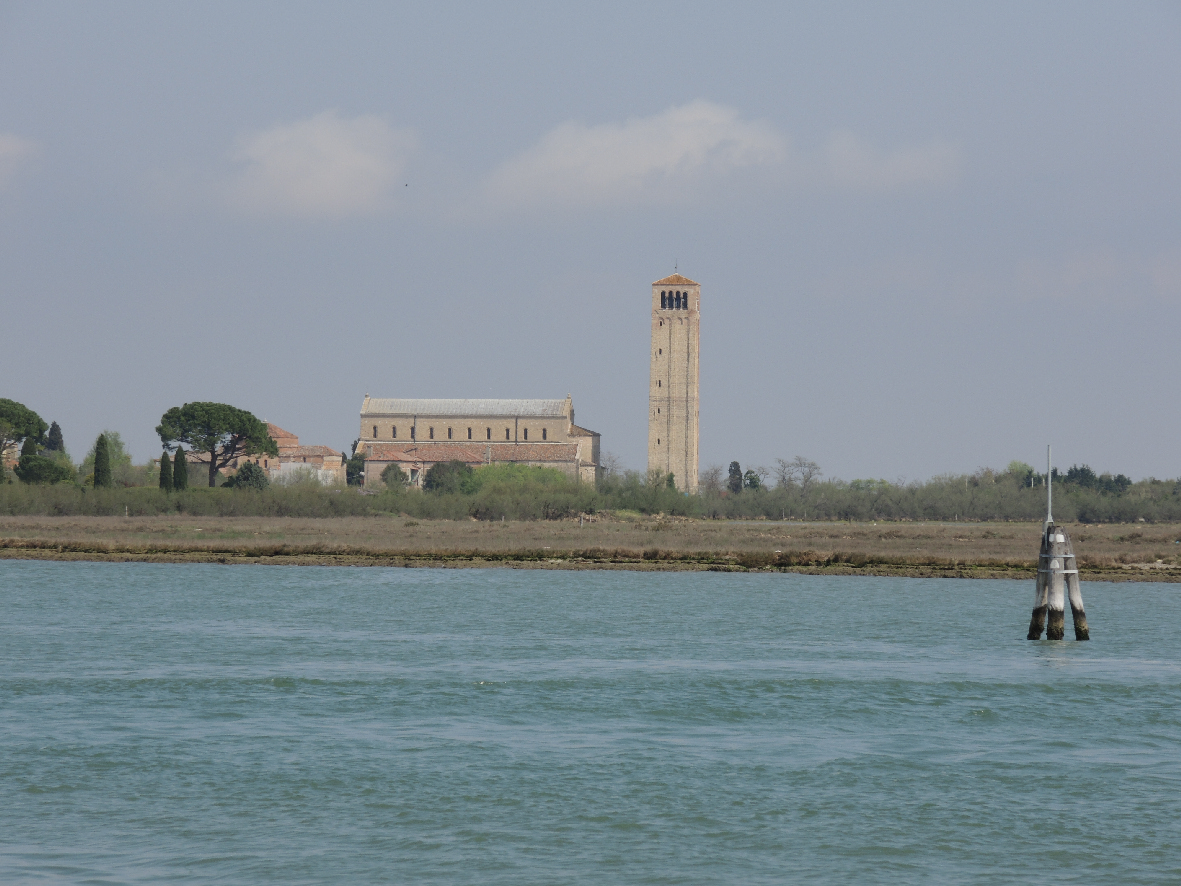 Torcello's cathedral seen from the lagoon