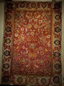 Garden carpet with animals fight - Central Persia - 16th cent. (Zaleski collection)