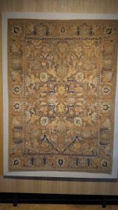 Silk carpet and precious spurn fabrics 'Polonaise' - Central Persia - 18th century (Zilesky Collection)