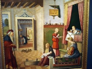 V. Carpaccio_1502_Birth of the Virign Mary_from Accademia Carrara, Bergamo